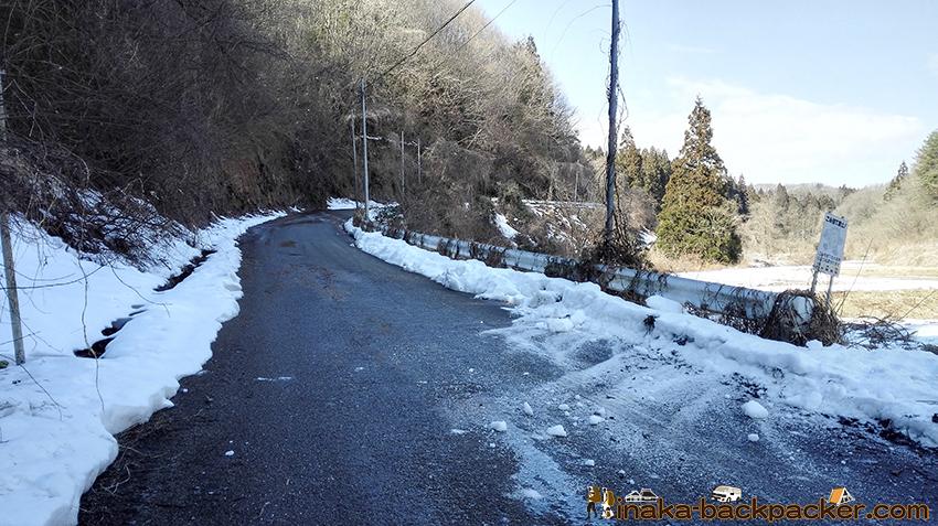 穴水町 凍結 icy road car flip over