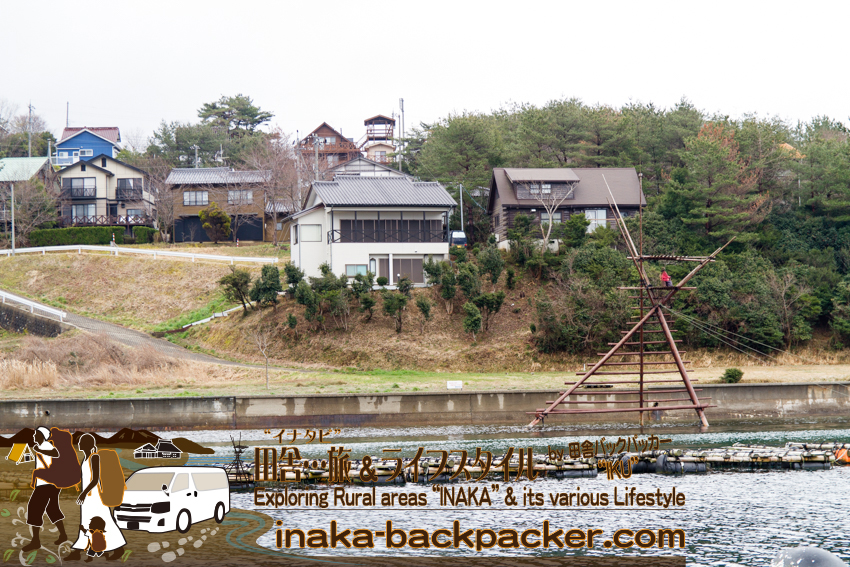 能登・穴水町岩車 - 周辺は穴水町の別荘地・椿崎地区。