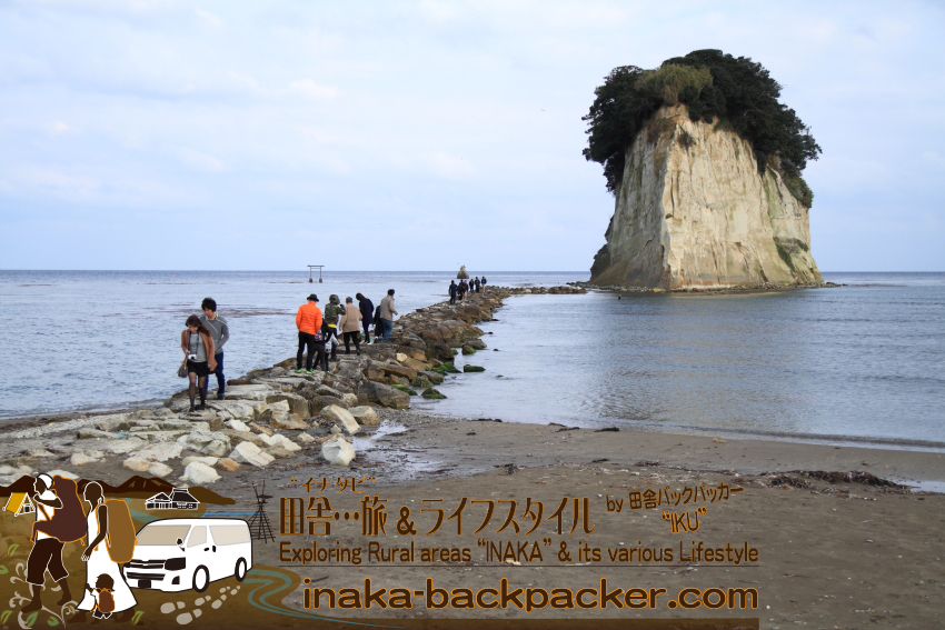 suzu mitsukejima island 石川県 能登 珠洲 見附島 サギ カラス 住む島