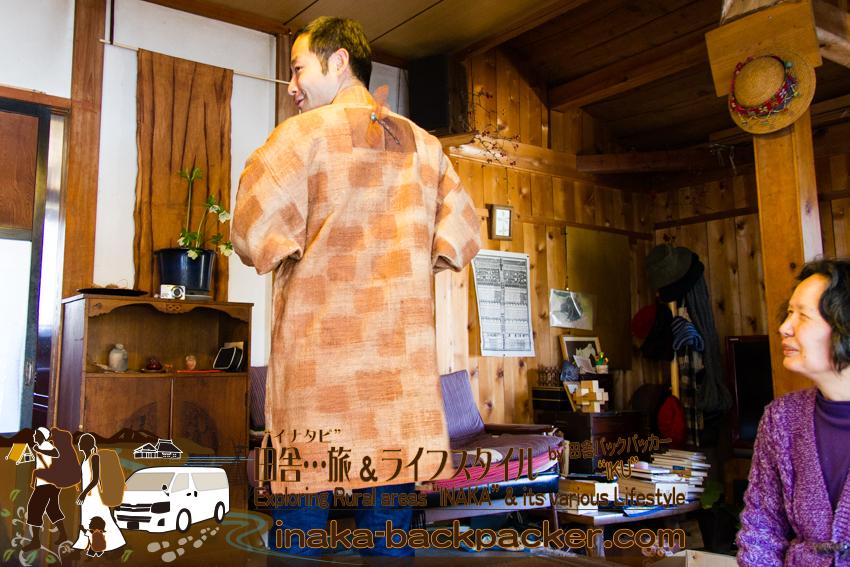 龍昌寺 柿渋 染め物 服 Ryushoji temple in Wajima experience