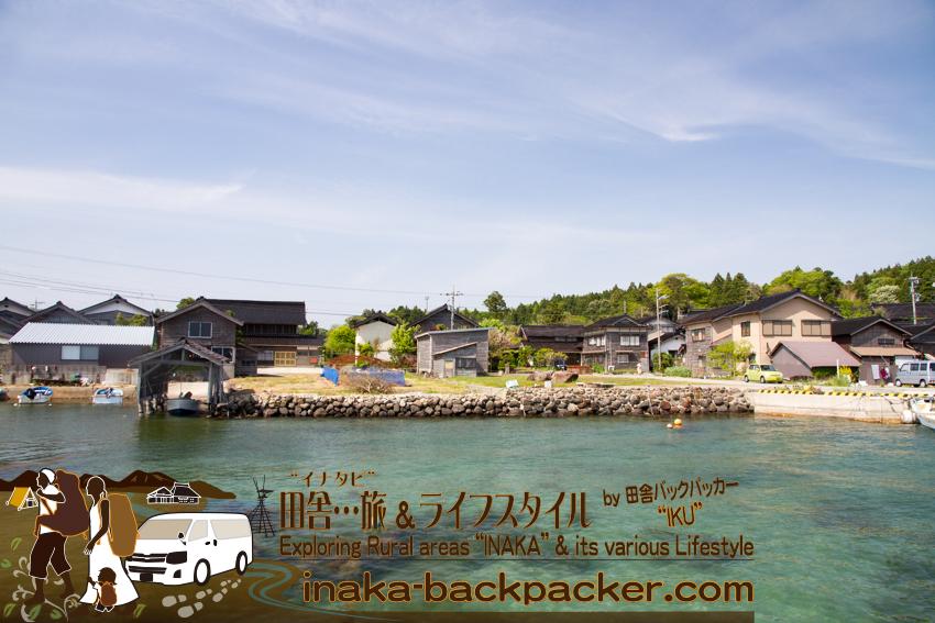能登・穴水町岩車の漁港周辺。
