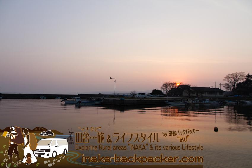 能登・穴水町岩車 - 夕暮れも綺麗だ。