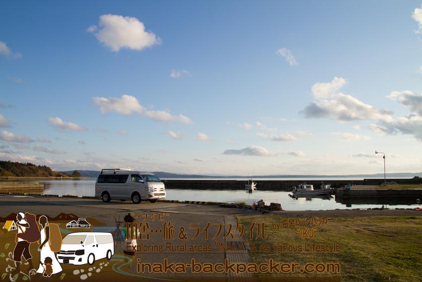 能登・穴水町岩車の漁港はこんな雰囲気。