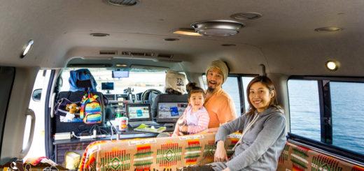 バックパッカー ハイエース 旅 ソーラー 家族 hiace travel backpacks