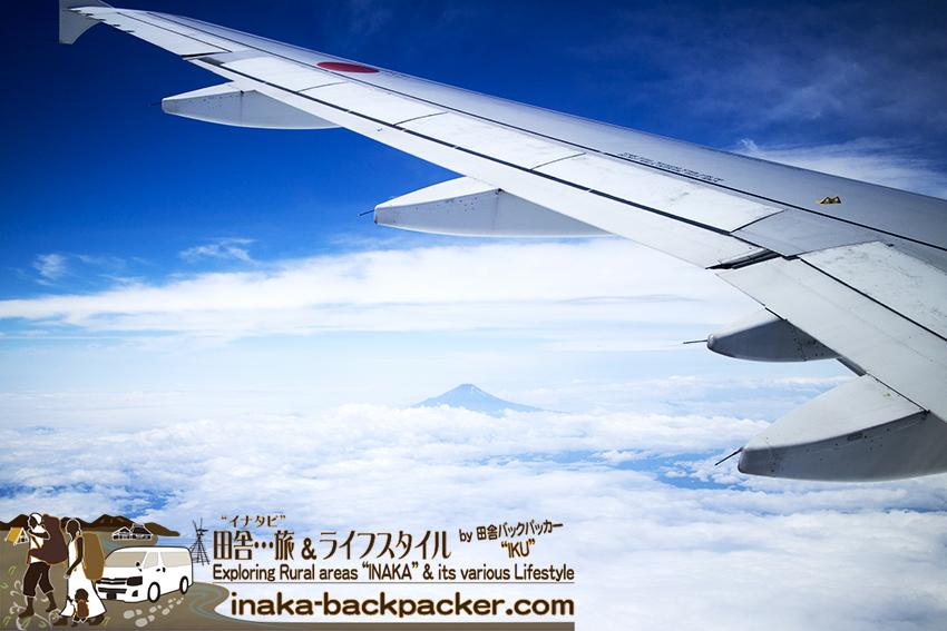 ANA 飛行機 羽田空港 能登空港 富士山 ana noto airport view