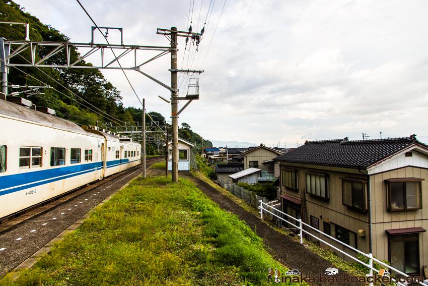 浦本駅 線路 写真