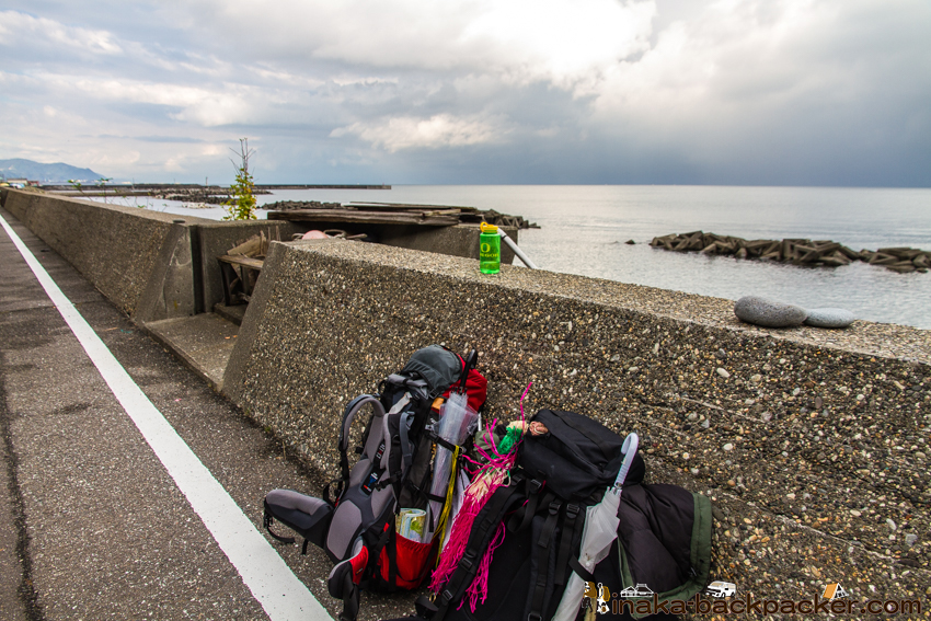 浦本駅 海岸線沿い 糸魚川 バックパッカー