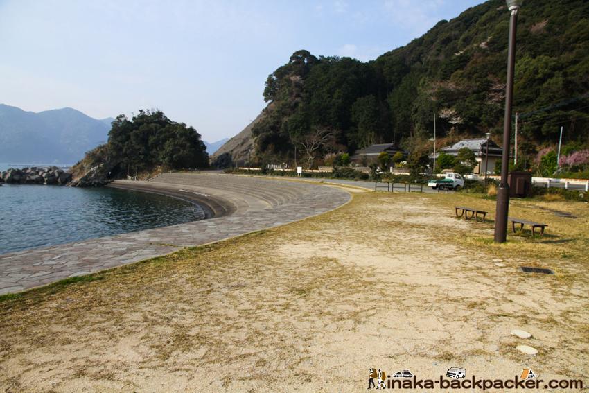 熊本県 天草 テント泊 野宿 小高浜海水浴場