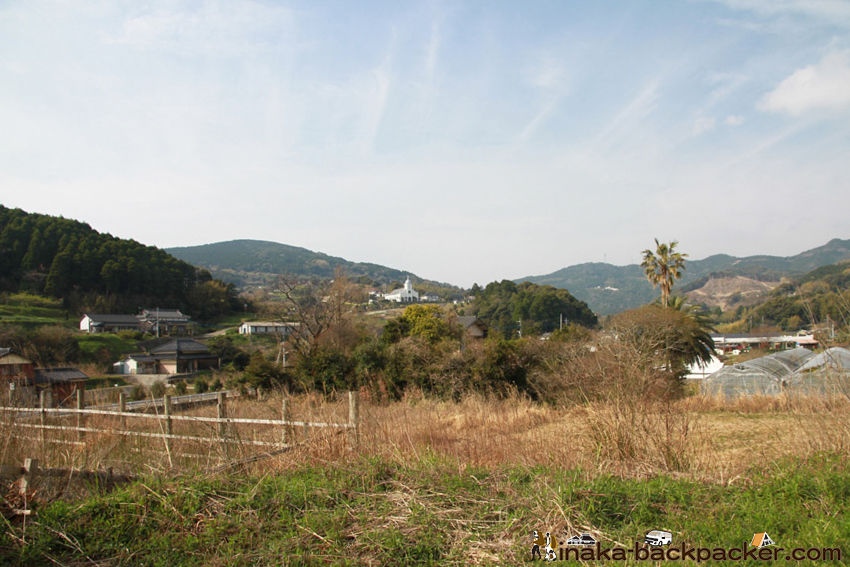 熊本県 天草市 遠くから見る大江天主堂