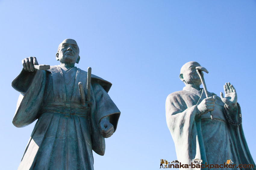 天草 富岡城 銅像