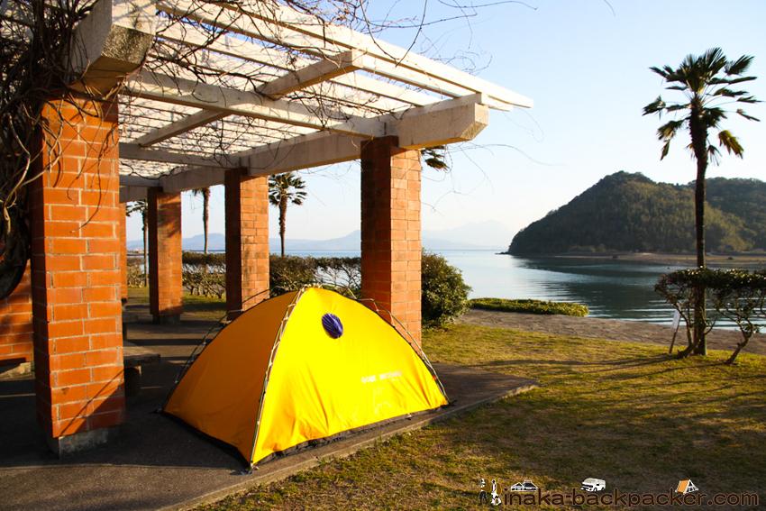 天草 若宮海水浴場 テント 野宿 キャンプ