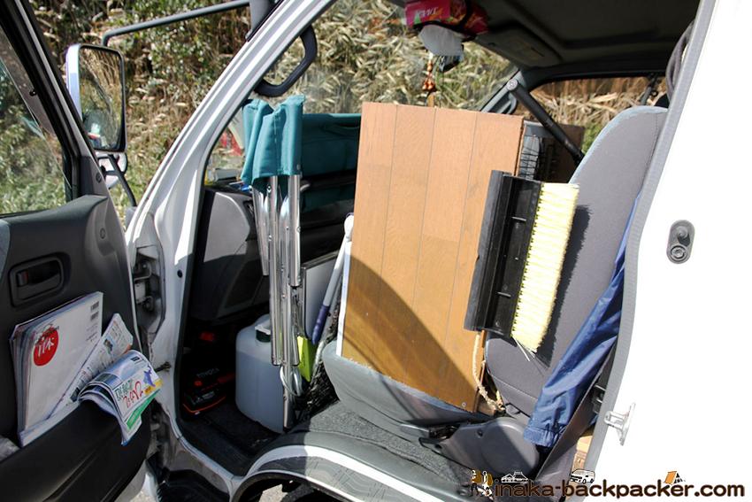ハイエース 車旅 石油ストーブ 一人旅 hiace stove heater