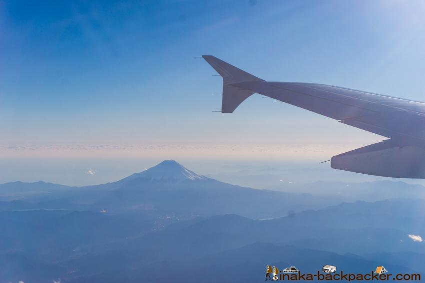 能登空港へ 富士山 眺め