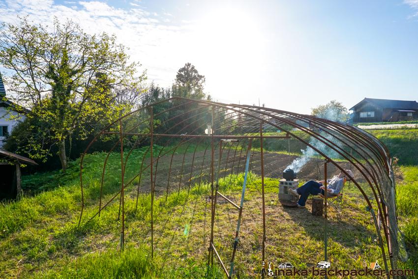 能登 畑 穴水町 テント キャンプ