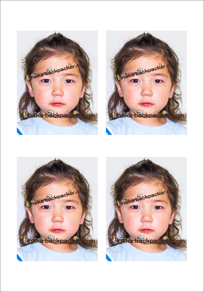 3歳 パスポート 写真