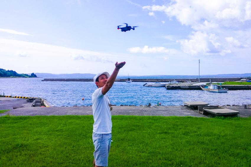 drone backpacker ドローンで田舎旅