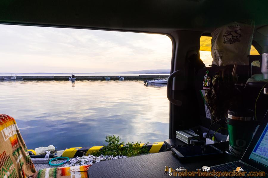 穴水町 岩車 漁港 仕事 車中泊 スポット work travel countryside Japan Iwaguruma Anamizu Noto Ishikawa