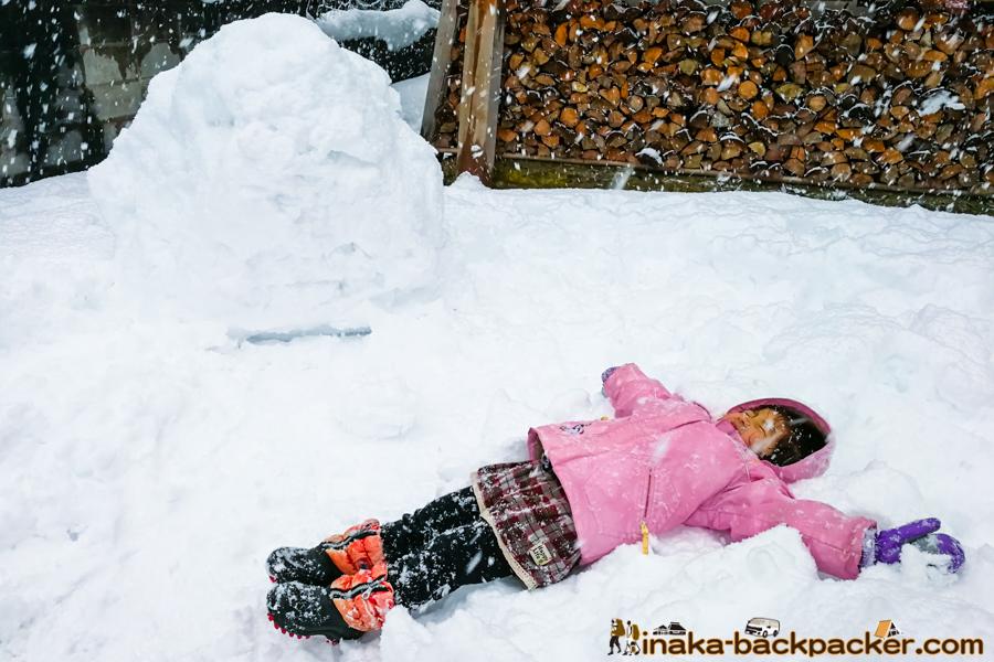 石川県 大雪 積雪 遊び Ishikawa anamizu snow play