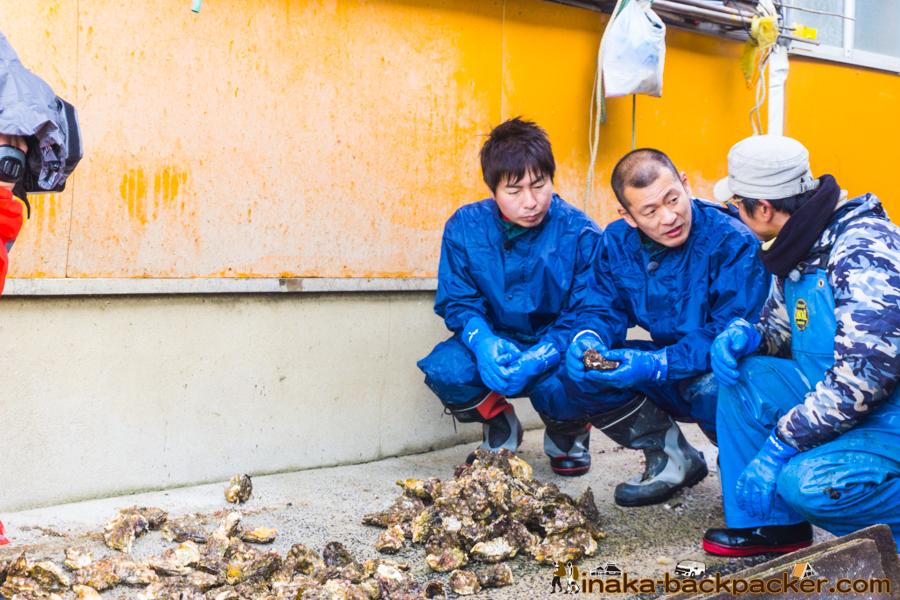 MRO 絶好調W U字工事 穴水町 牡蠣 漁師体験 Noto Ishikawa Anamizu Oyster