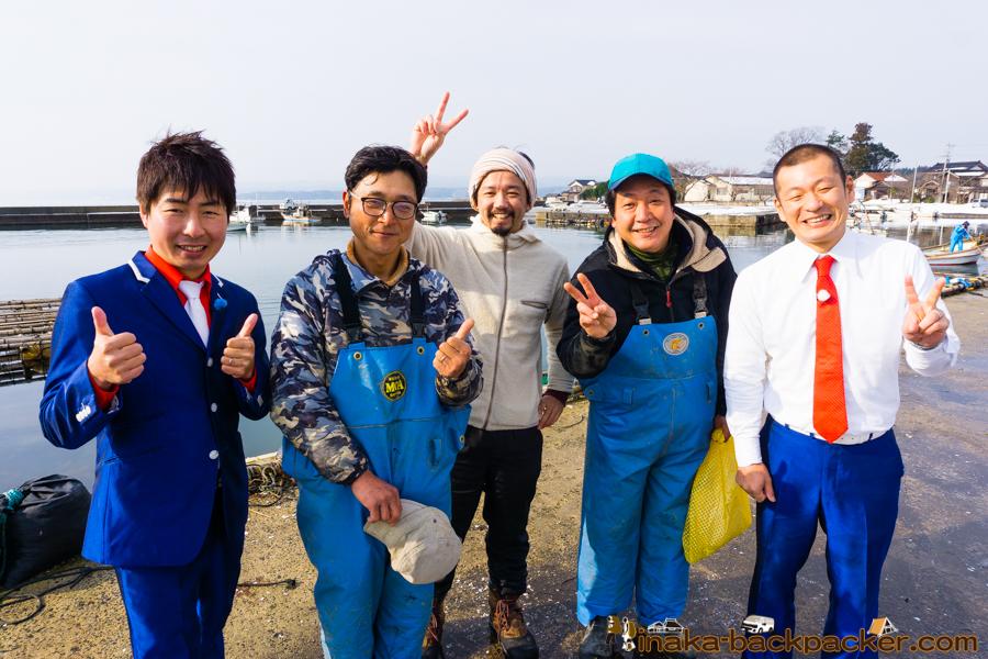U字工事 ゆうじこうじ 穴水町 牡蠣 Anamizu Oyster