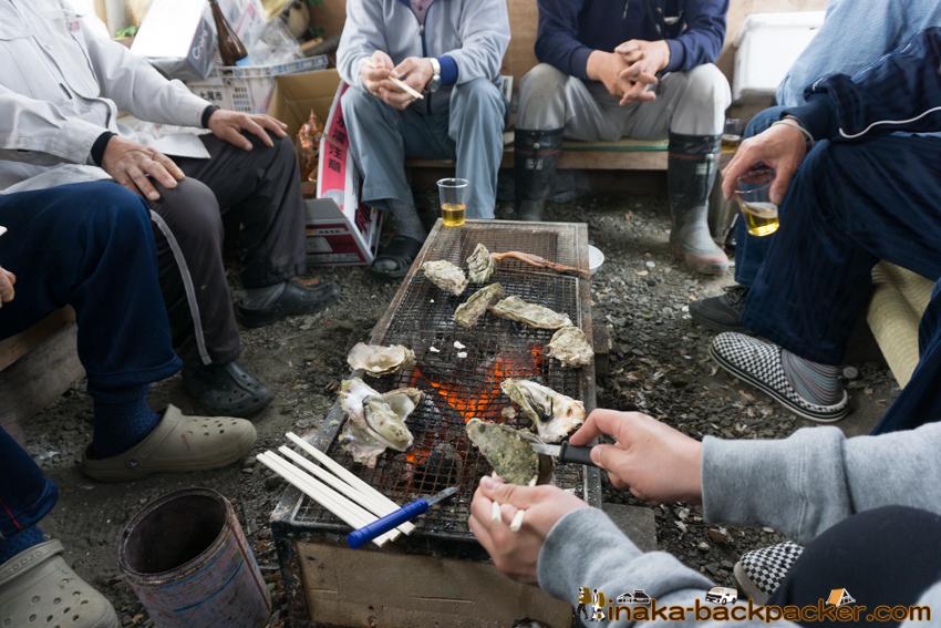 地方 田舎 移住者 牡蠣 交流 バーベキュー oyster BBQ in a countryside Noto Anamizu iwaguruma Ishikawa
