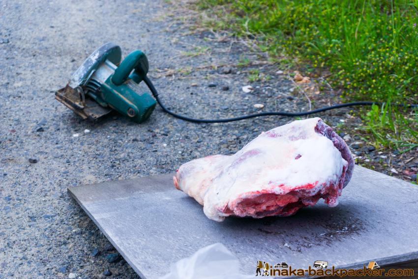 地方 田舎 鹿肉 バーベキュー deer meat BBQ in a countryside Noto Anamizu iwaguruma Ishikawa