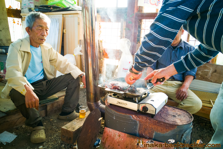 地方 田舎 移住者 交流 バーベキュー oyster BBQ in a countryside Noto Anamizu iwaguruma Ishikawa