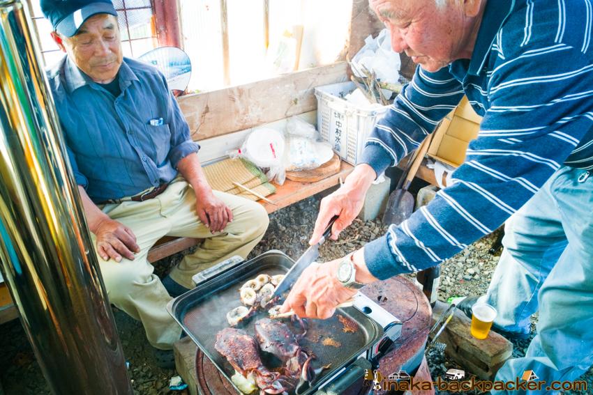 地方 田舎 移住者 アオリイカ 交流 バーベキュー oyster BBQ in a countryside Noto Anamizu iwaguruma Ishikawa