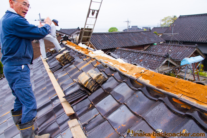 田舎 空き家 屋根 改修 empty houses fixing roof in countryside inaka Japan