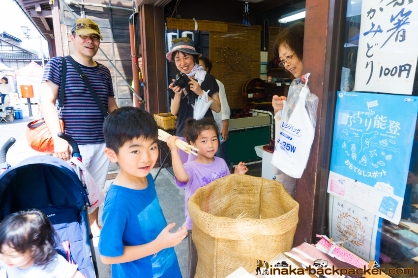 Morning Market Wajima Noto Ishikawa 輪島朝一 一よし 能登 石川県 お盆 混雑