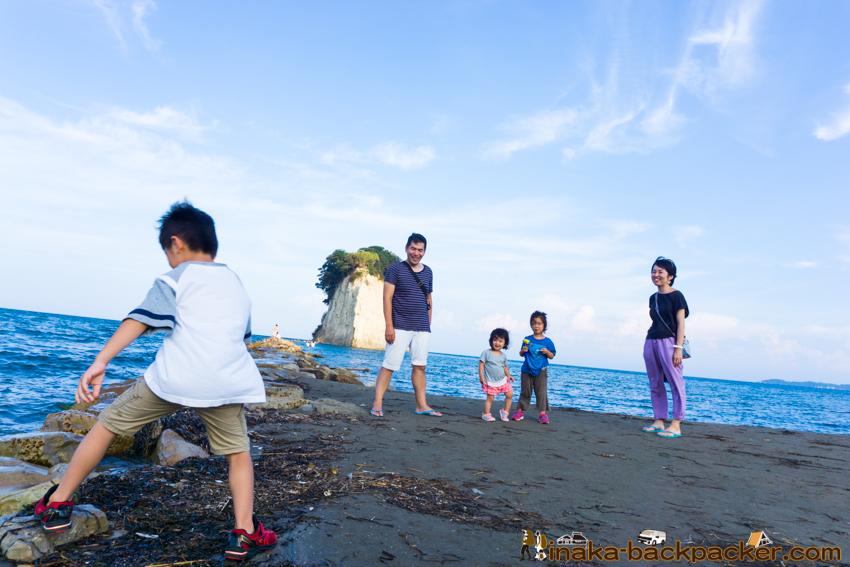 Mitsukejima island in Suzu Noto Ishikawa 見附島 珠洲 能登 石川県