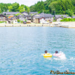 Swimming in the ocean in Iwaguruma Anamizu Ishikawa 穴水町 岩車 石川県 海 泳ぐ