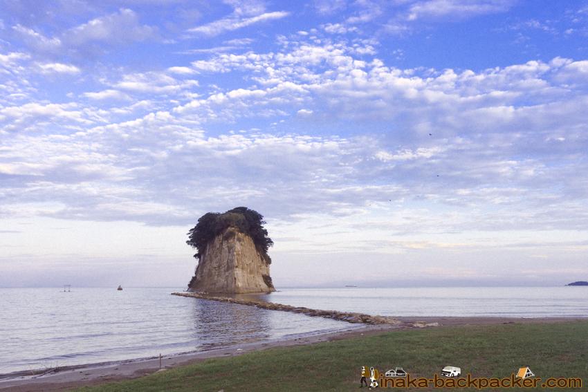 Mitsukejima island in Suzu Ishikawa Noto 見附島 珠洲 能登半島