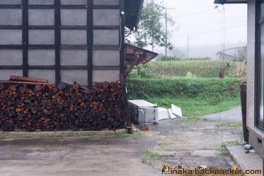 typhoon in Anamizu Ishikawa Noto Japan 台風21号 強風 石川県 能登 穴水町