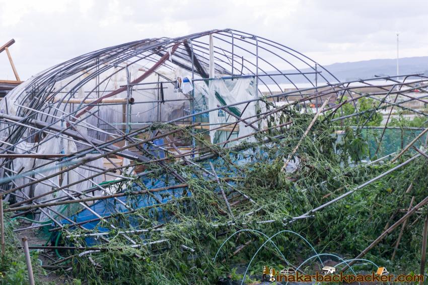 typhoon 21 storm in Anamizu Noto Ishikawa 台風21号 穴水町 住宅