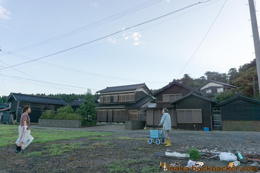 typhoon 21 storm in Anamizu Noto Ishikawa 台風21号 穴水町 住宅 停電