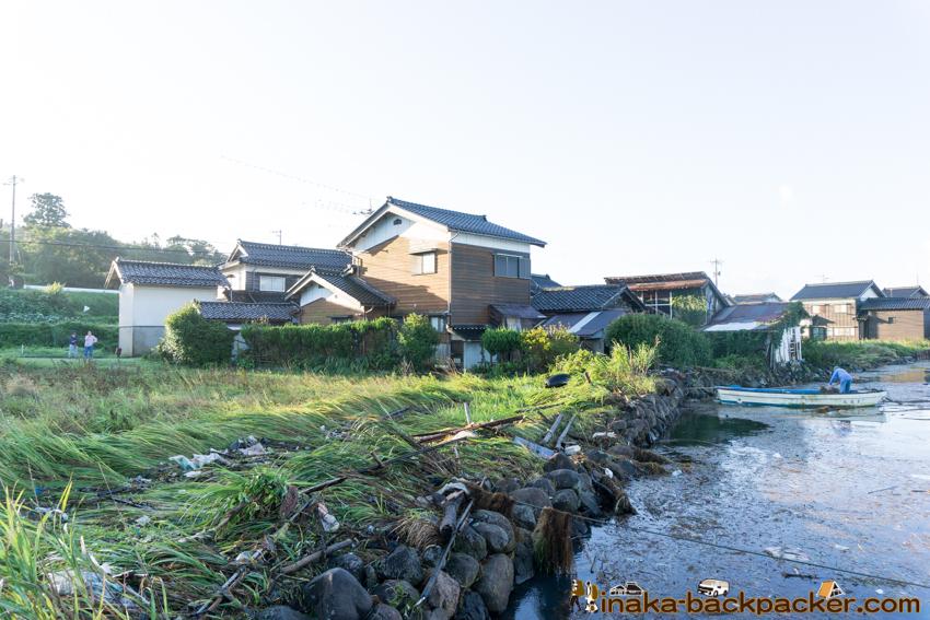 typhoon 21 storm in Anamizu Noto Ishikawa 台風21号 穴水町 牡蠣
