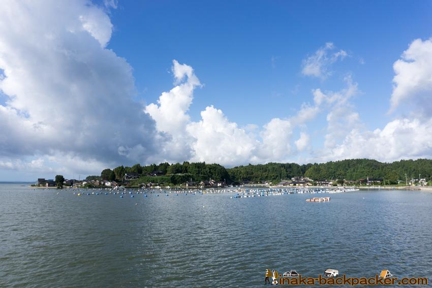 台風21号 穴水町 中居湾