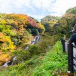 waterfalls autumn wajima ishikawa 男女滝 紅葉 能登半島 石川県