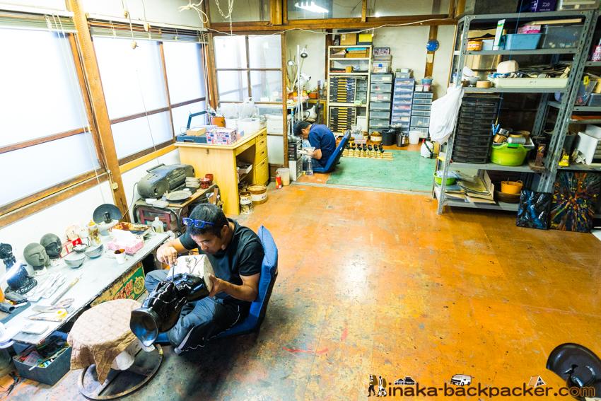 Lacquer art in Wajima Japan 漆 輪島塗 芯漆
