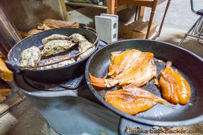 oyster fisherman cultural experience in Anamizu Ishikawa 石川県 穴水町 文化 田舎体験 牡蠣 水揚げ体験 牡蠣漁師