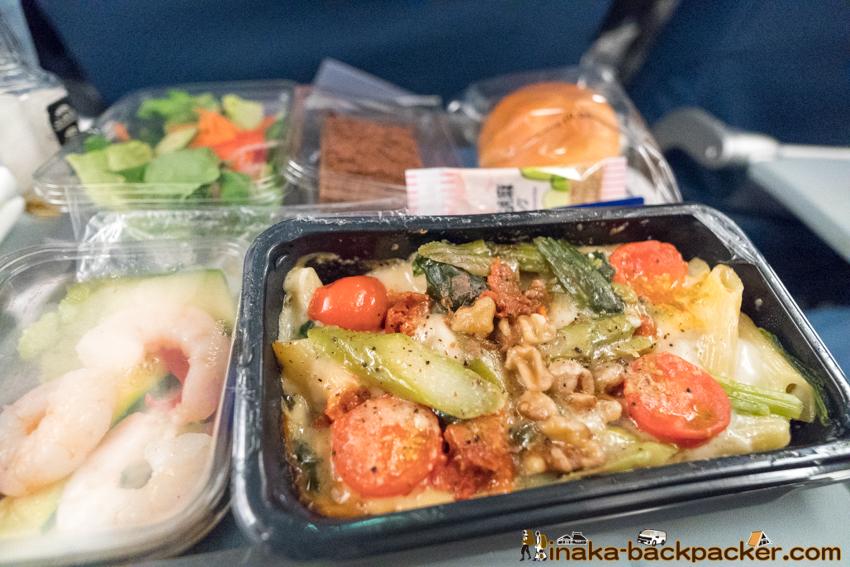delta airline pasta デルタ航空 機内食