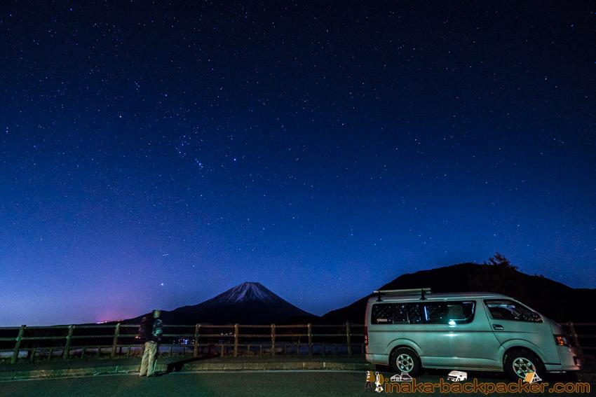 Van life in Fuji Japan 富士山 車中泊 星空