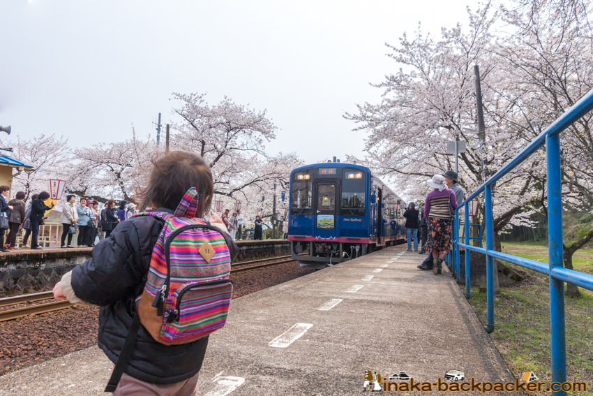 sight seeing train in noto のと里海里山号