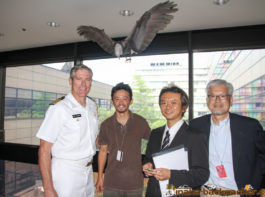 Anazawa san and Mr. Justin Cooper (Captain, United States Navy Senior Defense Official Defense and Naval Attache)