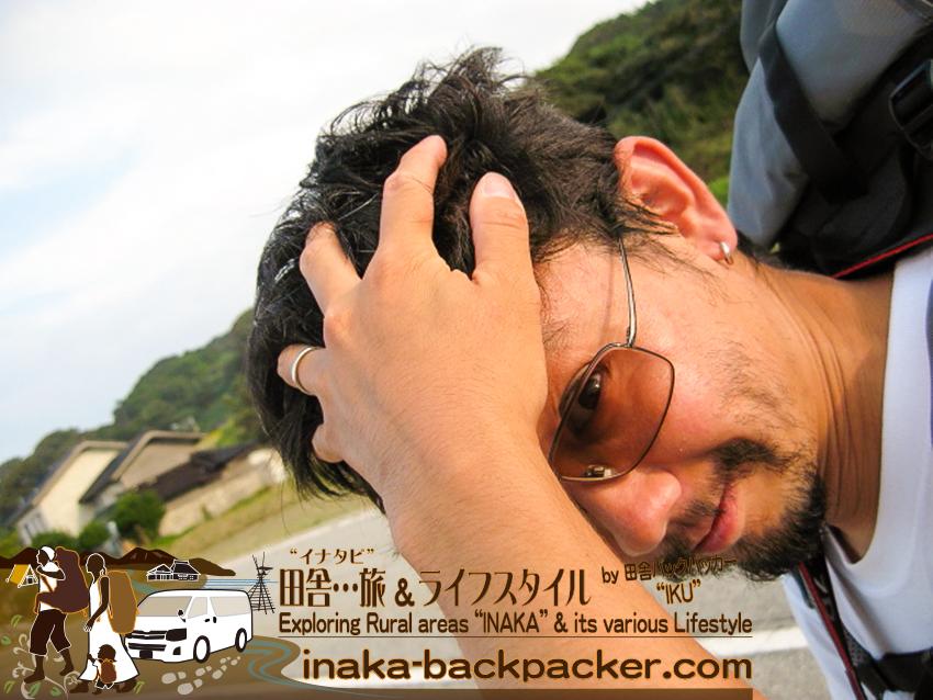 石川県 奥能登一周中 - ぼくらは3日間、お風呂に入ってない... 頭が痒い。Ishikawa Pref. on Noto Peninsula - start having itchy head...couldn't find a place to shower for 3 days!