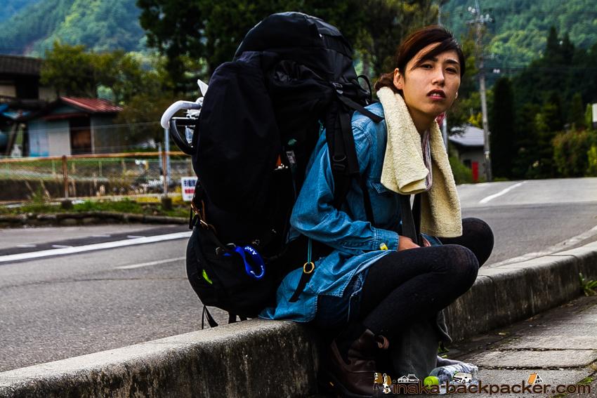長野県 みどり湖 バックパッカー 休憩