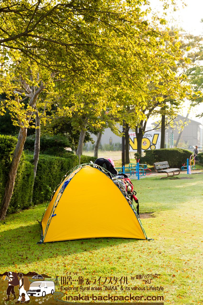 石川県津幡 - 今日、ぼくらは津幡の公園で目覚めた