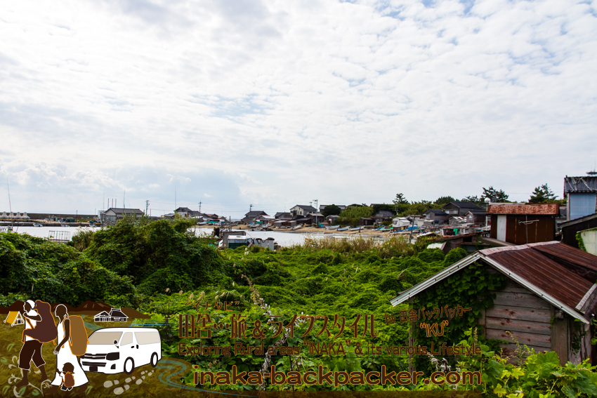 石川県舳倉島の港付近から撮影。Hegura Jima island