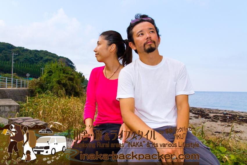 石川県 奥能登一周中 - 一休み / Ishikawa Pref. on Noto Peninsula - We were so tired from walking...